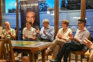 Rüdiger Schaaf, Ludwig Hoegner, Florian Ritter, Katja Weitzel und Raoul Koether