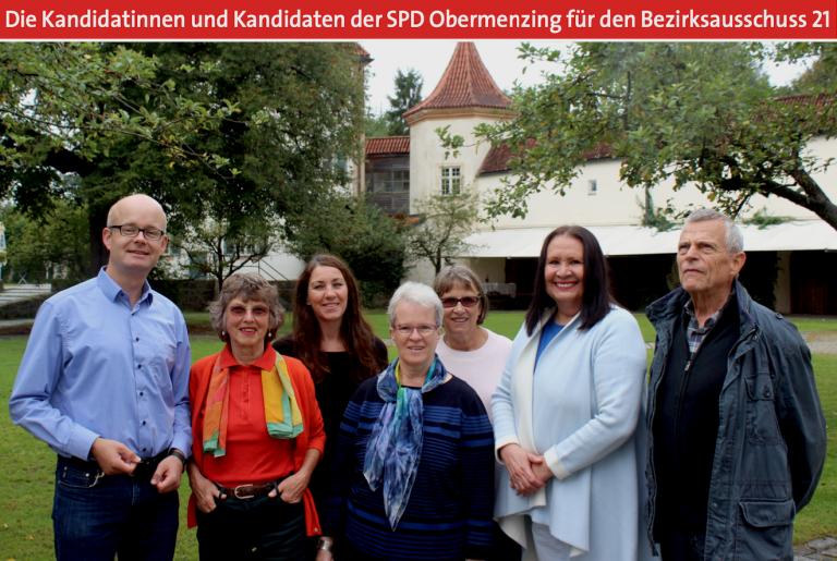 Die Kandidatinnen und Kandidaten der SPD Obermenzing für den Bezirksausschuss 21
